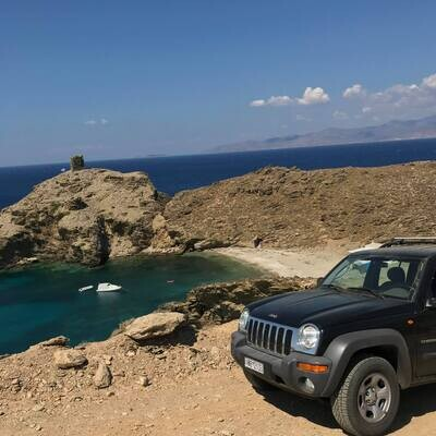 Vlychada & Pyrgos Beach Tour in Andros