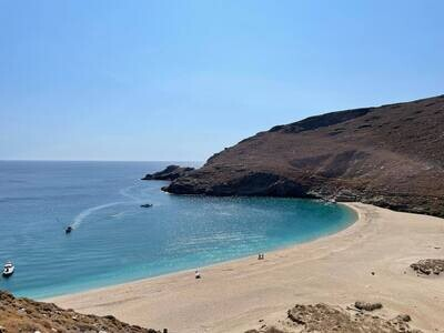 Achla Beach & Gria Lighthouse Tour in Andros
