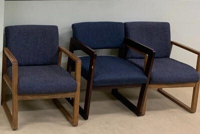 Blue cushioned chairs