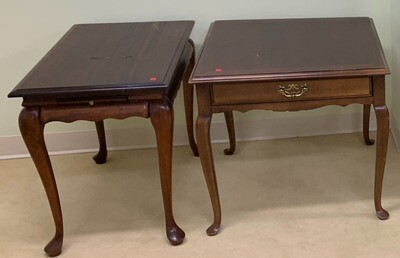 Wooden end and center tables