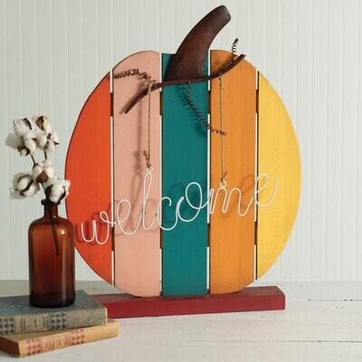 Autumn Pumpkin Welcome Sign