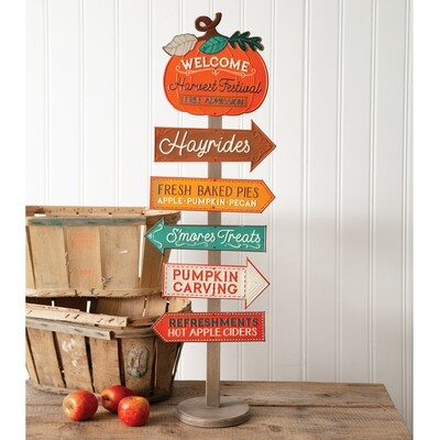 Harvest Festival Directional Sign Stand