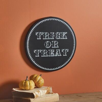 Trick-or-Treat Plaque