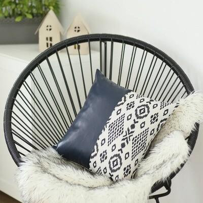 Decorative Vegan Leather Throw Pillow Cover