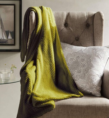 Myrcella Textured Fleece Throw Blanket