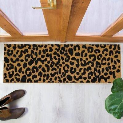 Leopard Print Patio Doormat