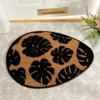 Monstera Leaf Pebble Doormat