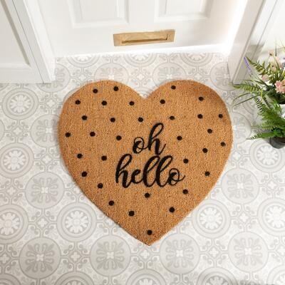 Heart Shaped Oh Hello Doormat