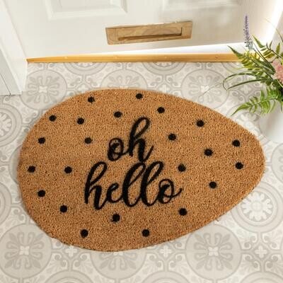 Oh Hello Pebble Doormat