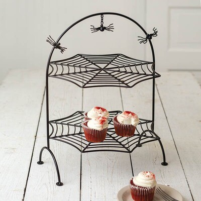 Two-Tier Spider Web Tray