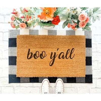 Boo Y'all Doormat