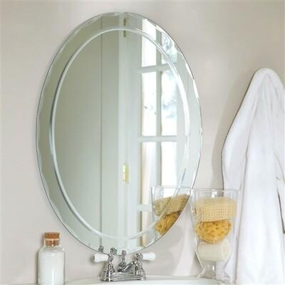 Oval Frame-less Bathroom Vanity Wall Mirror