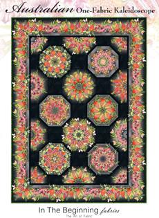 95383 Australian Garden Twist One Fabric Kaleidoscope Quilt Pattern & Fabric Kit $250.80