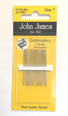 32397 Embroidery Needles size 7 $6.50