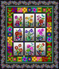 95390 Teapot Sampler Quilt Pattern & Fabric Kit $340.96