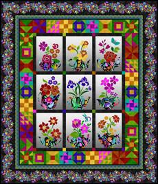 95390 Teapot Sampler Quilt Pattern & Fabric Kit $340.96