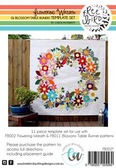 46285 Flowering Wreath Template Set $48.50