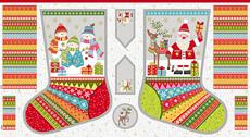 16901 Festive Stocking Panel $18 each