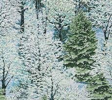 16912 Natures Window Snowy Trees Evening $32 per mt