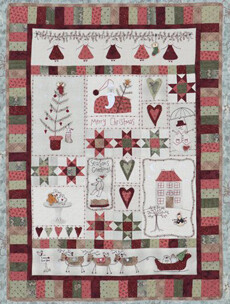 95358 Christmas Fun Quilt Pattern & Button Set $100