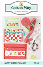 42553 Pretty Little Pouches Pattern $16