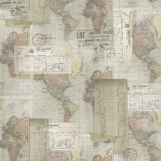 15441 Memoranda III World Map $30 per mt
