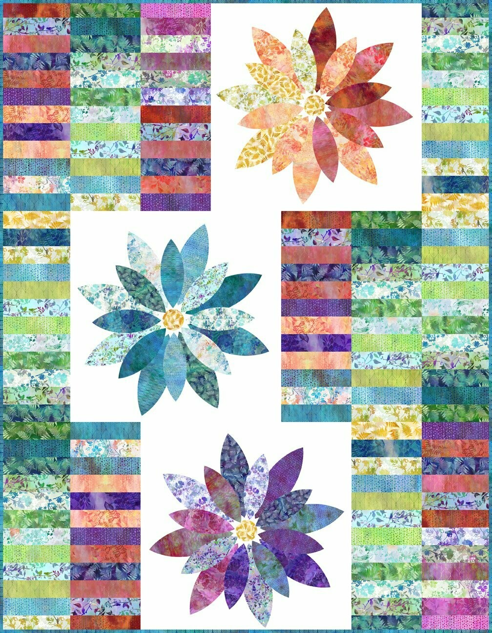 95395 Blooms Quilt fabric Kit $298.65