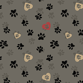 14608 Wigglebutts Paws Grey $28 per mt