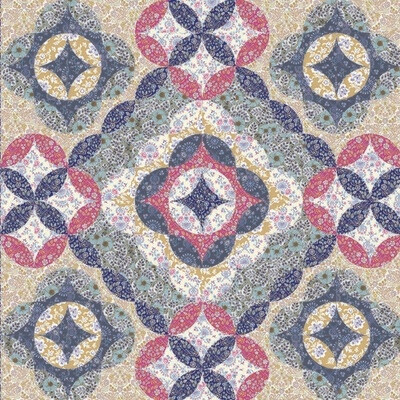 Moroccan Flowers Free Quilt pattern download