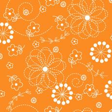 14614 Kimberbell Basics Stitch Flower Orange $26 per mt
