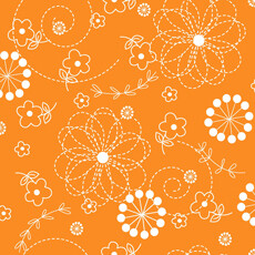 14614 Kimberbell Basics Stitch Flower Orange $26 per mt