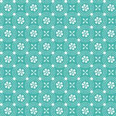 14616 Kimberbell Basics Clover Circle Turquoise $26 per mt