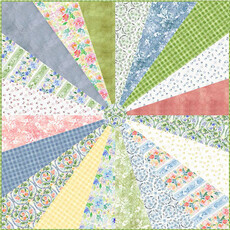 Watercolor Wheel Quilt Free pattern download