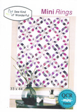 46664 Mini rings Quilt Pattern $16