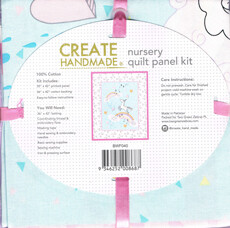 16935 Unicorn Nursery Quilt Panel kit $19.99