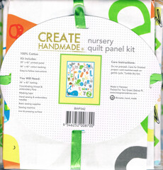 16936  Alphabet Nursery Quilt panel kit $19.99