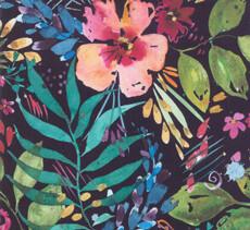 13334 Brightly Blooming floral black $28 per mt