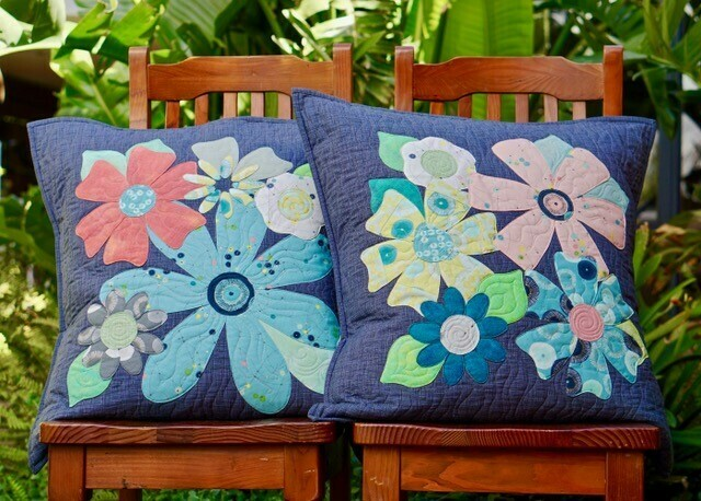 Fleurs Cushions pattern & template set