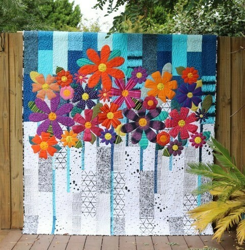 Indah Blossoms quilt pattern and template set