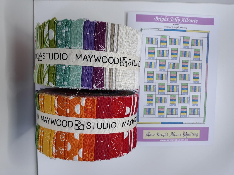 GACS3.3 Bright Jelly Allsorts quilt pattern and Kimberbell Basics strip set