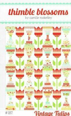 42556 Vintage Tulips Quilt pattern $16