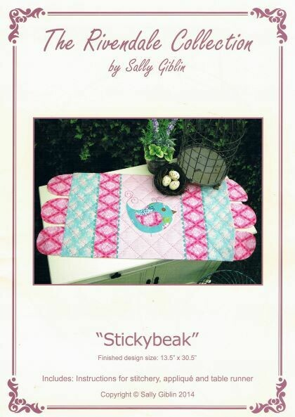 48022 Stickybeak table runner pattern $13.20