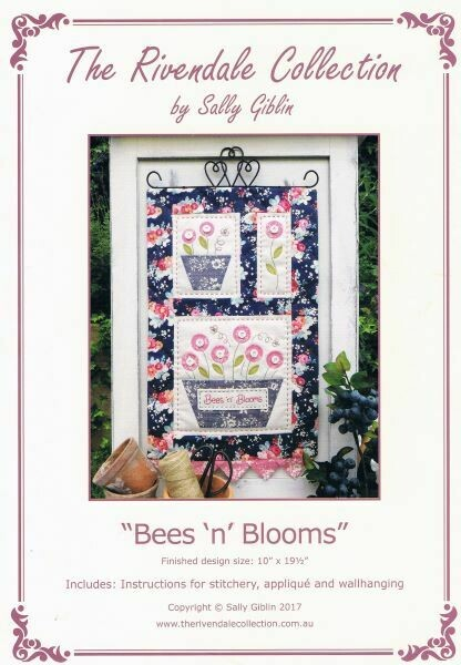 48028 Bees n Blooms Wallhanging Pattern $13.20