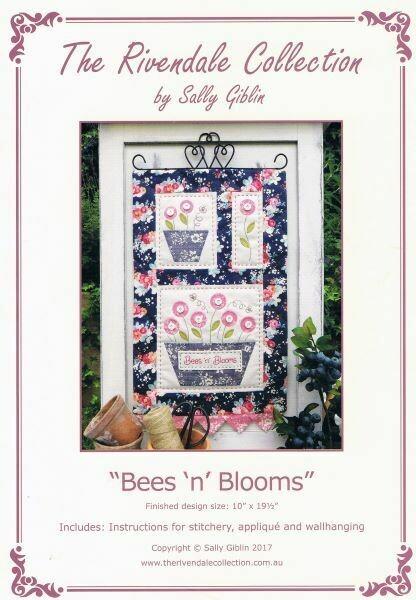 48028 Bees n Blooms Wallhanging Pattern $13.20