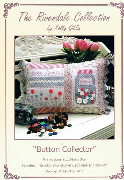48014 Button Collector Cushion Pattern $13.50