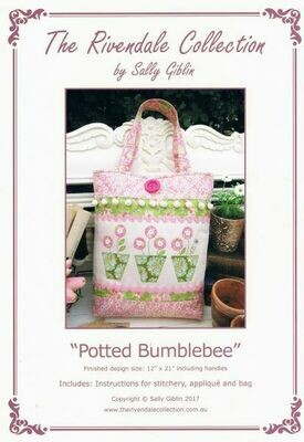 48029 Potted Bumblebee Bag Pattern $13.20