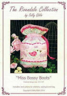 48020 Miss bossy boots bag pattern $13.50