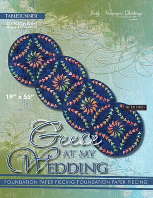 43727 Geese at my wedding table runner pattern & papers $35.99