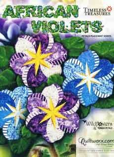 43756 African Violets Placemats Pattern & Papers $61.50