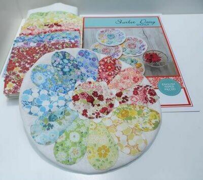 SBAQ4.5 Sherbet Daisy Doily Pattern & fabric kit $20